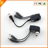 Wholesale New CCTV RJ45 UTP Video Balun Transceiver with Video and Power Free