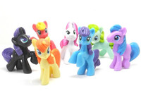 Wholesale Lovely Multicolorl My Little Pony Mini PVC Action Figures Model Toys Dolls Girls Toys Gifts CM set