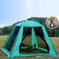 Wholesale Large Breathable Family Camping Tents High Quality Steel Single Layer Mesh Picnic Tents and Shelters Hiking Tents for Family