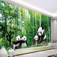 baby panda photo - custom murals wallpaper High quality HD Cute baby and mother panda bamboo natural beauty large photo wallpaper d