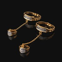 baby real gold bracelet - New Arrival Two Colors Bangles amp Bracelets For Kids K Real Gold Plated MY BABY For Kid Baby Lovely Jewelry Bracelet With Ring