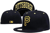 Wholesale online shopping Pittsburgh Pirates Street Fitted Fashion Hat P Letters Snapback Cap Men Women Basketball Hip Pop