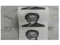 Wholesale Hillary Clinton Toilet Paper Pieces Election Hillary s Face Roll Paper Party Gag Gift Prank Humor Joke TTOP1355