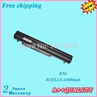 asus ultrabook - V mah A41 K56 A42 K56 Laptop battery For ASUS S56 Ultrabook S56C S56CA S56CM battery