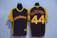 anti bat - Arizona Diamondbacks Paul Goldschmidt Brown Baseball All Star Cool base jersey Batting Practice Player Jersey