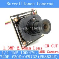 Wholesale 1000TVL AHD Camera Module P MP CCTV PCB Main Board V20E OV9732 FH8532E MP mm wide angle lens IR Cut cameras