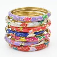 Wholesale Authentic old Beijing cloisonne bracelet Peony bracelet Fashion decoration features in Beijing Random delivery