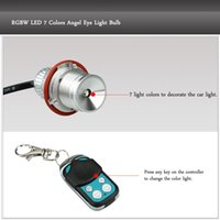 Wholesale 2Pcs W Car RGBW LED Angel Eye Led Daytime Running Light Halo Ring Marker Light Bulb for BMW E39 Colors