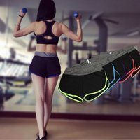 Wholesale New Style Women s Sport Colors Summer Style shorts Leggings Fitness Elastic Women Gym Workout Running shorts