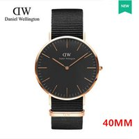 Wholesale 2017 Sweden Top Brand Luxury Quartz watch Daniel men Business Casual Black quartz watch genuine leather ultra thin clock male New Wellington