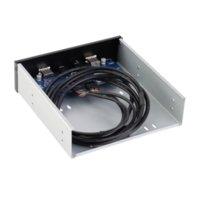 Новый 20 Pin 2 порта USB 2.0 концентратор + HD Audio расширения Передняя панель привода Кронштейн Оптовая