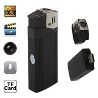 Wholesale Full HD P Lighter Spy Hidden Pinhole Camera Recorder DVR MINI DV Flashlight Camcorder Cam F18