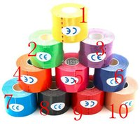 Wholesale 200pcs Kinesio Tape cm x m Roll Cotton Elastic Adhesive Muscle Sports Tape Bandage Physio Strain Injury Support