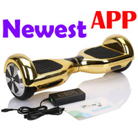 Wholesale Electric Scooters inch Gold Chrome smart self balancing electric smart balance hoverboard Cell Phone APP UL