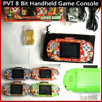 Wholesale 30pcs PVT Game Player Portable Handheld inch bit PVT Digital Pocket Game Players Video game Console For Kids Gifts