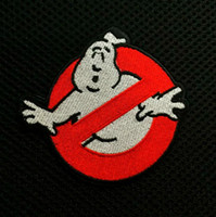 Wholesale 3 inch Ghostbusters No Ghosts Logo Screen Accurate Embroidered Iron On Patches Applique Badge sew on patch GP