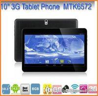 50x moins cher 10 pouces MTK6572 Dual Core 1.2Ghz Android 4.2 WCDMA 3G Phone Call tablet pc bluetooth GPS Wifi double caméra avec 2 Emplacement pour carte SIM