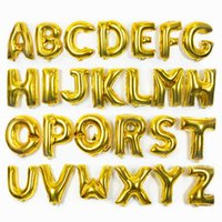 Wholesale Romantic Wedding Balloons Aluminum Coating Festival Brithday Party Anniversary Supplies Irregular Gold And Silver Letters Balloon Decoration