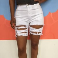 Wholesale 2016 In Summer Black White Fashion Denim Shorts Summer Wear The New Hole Burrs Torn Denim Shorts B