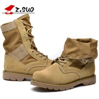 Wholesale Fashion Military Boots outdoor Desert Tan combat army boots male shoes Mens Tactical Police boot colors size39