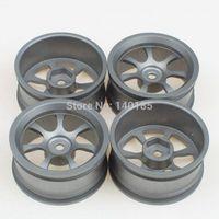 Black aluminum rc rims - 4 Aluminum Alloy RC On Road Racing Car Spoke Wheel Rims Grey car charger samsung tablet