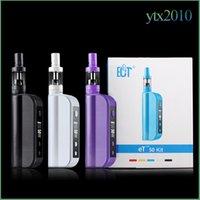 Cheap 100% original ECT e cigarette 50W eT50 box mod 2200mah starter kit 2.5ml mini fog vaporizer 18650 et50 battery low resistance