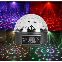 Wholesale 6 Colors Disco Dj Party Digital Led Crystal Magic Light Ball Stage Lighting With DMX Control
