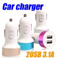 Wholesale 2016 Double USB car charger A High quality ChargersTraver Adapter Car Plug For iPhone S Samung S7 Sony LG HTC