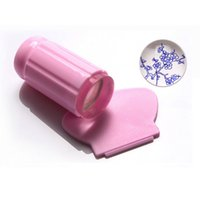 Wholesale HOT Clear Jelly Sticky Stamper Nail Art Stamper Clear Silicone Marshmallow Nail Stamper Scraper Stamp Too