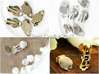clip earring pads - 600sets mix color or your pick Silver gold antique bronze Clip On earrings w mm pads and free silicon protection pads