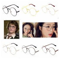 Wholesale Harry Potter Glasses Halloween Party Fashion unisex Round Retro Glasses Nerd Bookworm Cosplay Eye Glasses design LJJK563