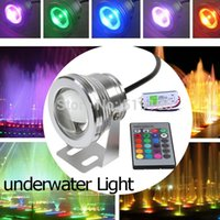 Wholesale W RGB LED Underwater Light Waterproof IP68 Fountain Swimming Pool Lamp Color Key IR Remote W LED Power Transformer