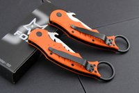 Wholesale Fighting Knives Styles FOX Karambit Folding Claw Knife FOX DART C Blade HRC Sharp Training Knife F48E