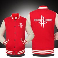 basketball team jackets - 2016 New Basketball Houston Team Logo Rockets James Harden Men Fall Winter Pure Cotton Jacket lover s Sweatshirt baseball uniform
