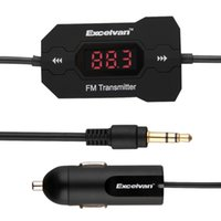 Wholesale Excelvan Car Kit MP3 Audio Music Player FM Transmitter Cable Handsfree Car Charger V A For iPhone HTC Smartphone