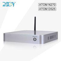 atom barebone - new XCY mini pc desktop barebone computers Atom N270 D525 office pc with HDMI VGA usb2 support OEM ODM
