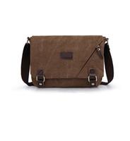 Wholesale Vintage Canvas Messenger Tablet Kindle Bag Rucksack Camping Hiking Cycling Fishing Daypack For Men Women Teenagers