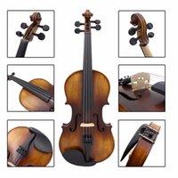 Wholesale Astonvilla AV Spruce Solid Wood Vintage Violin with Case Accessories