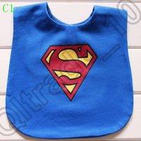 Wholesale 100PCS MMA63 Bow Toddler Kids Strap Superman Tuxedo Suit Bibs Waterproof Bibs Baby Wear Accessories Kids Cotton Apron Handkerchief