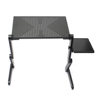 Wholesale New Arrival Portable Adjustable Foldable Laptop Notebook PC Desk Table Vented Stand Bed Tray