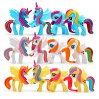 Wholesale brinquedos cm large Little Horse Action Figure Toy Children s Love Rainbow Horse Poni baby Toys Landscape doll