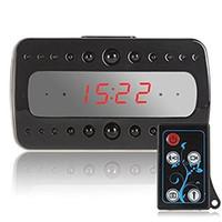 Wholesale Mini SPY CCTV Camera Night Vision Desk Alarm Clock Camera with Full HD p Remote Control Motion detect Infrared Night Vision function