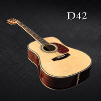 Wholesale Custom Solid Spruce top acoustic guitar inch Rosewood fingerboard acoustic electric guitar in stock guitars