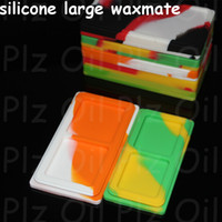 Wholesale ENAIL Nonstick silicone Wax Containers in titanium nail silicone large wax mate pad fit glass pipes nectar collector