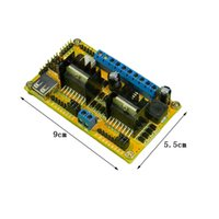 Cheap L298N Double H bridge drive 4 Phase DC Stepper Motor Drive Controller Power Board Module WIFI Car Driver Board Wholesale