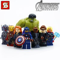 Wholesale Marvel action figure building block League of Heroes Building Blocks Heroes Assemble