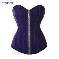 Wholesale Sexy Corset Woman corselet waist training corsets Solid Overbust blue and red Corsets And Bustiers Size S XL