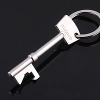 Wholesale Cool Beer Bottle Opener Stainless Steel Color Bar Beer Wine Open Tool Portable Key Chain Rings Home Kitchen Gadgets