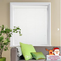 Wholesale Made To Measure New White Wooden Blinds with cm Slats