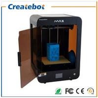 Createbot Imprimante 3D Max Buse double Imprimante 3D en métal Ecran tactile Heatebed ABS PLA filament Disponible Desktop 3D Printer Kit